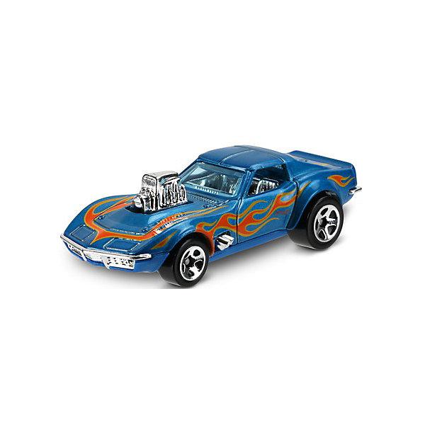 Машинка Hot Wheels из базовой коллекции, Hot WheelsПопулярные игрушки<br>Характеристики:<br><br>• возраст: от 3 лет;<br>• материал: металл, пластмасса;<br>• вес упаковки: 30 гр.;<br>• размер упаковки: 11х4х11 см;<br>• тип упаковки: блистерный;<br>• страна бренда: США.<br><br>Машинка Hot Wheels от Mattel входит в группу моделей базовой коллекции. Миниатюры этой серии изображают реальные автомобили, спорткары, фургоны, мотоциклы в масштабе 1:64, а также модели с собственным оригинальным дизайном. Собрав свою линейку машинок, ребенок сможет устраивать заезды, гонки и меняться экземплярами с друзьями.<br><br>Монолитные элементы игрушки увеличивают ее прочность. Падение и столкновение с твердыми предметами во время игр не отражается на внешнем виде и ходе машинки. Кузов отчетливо детализирован, покрыт стойкими насыщенными красками. Колеса легко вращаются вокруг своей оси.<br><br>Игрушка выполнена из качественных материалов, сертифицированных по стандартам безопасности для использования детьми.<br><br>Машинку Hot Wheels из базовой коллекции можно купить в нашем интернет-магазине.<br><br>Ширина мм: 110<br>Глубина мм: 45<br>Высота мм: 110<br>Вес г: 30<br>Возраст от месяцев: 36<br>Возраст до месяцев: 96<br>Пол: Мужской<br>Возраст: Детский<br>SKU: 7522218