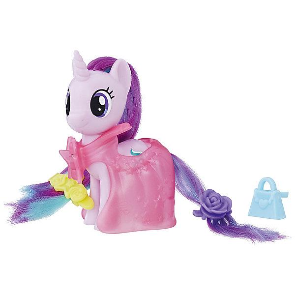 Игровой набор Hasbro My little Pony Пони-модницы, Старлайт ГлиммерФигурки из мультфильмов<br>Характеристики товара:<br><br>• возраст: от 3 лет;<br>• материал: пластик;<br>• в комплекте: фигурка пони, 3 аксессуара;<br>• высота фигурки: 8 см;<br>• размер упаковки: 18,4х17,8х4,8 см;<br>• вес упаковки: 145 гр.;<br>• страна производитель: Китай.<br><br>Игровой набор Hasbro My Little Pony «Пони-модницы» создан по мотивам известного мультсериала «Мой маленький пони» про очаровательных разноцветных пони. В наборе представлена фигурка персонажа, у которой роскошные мягкие грива и хвост. Дополнительные аксессуары позволят создать для пони невероятный образ.<br><br>Игровой набор Hasbro My Little Pony «Пони-модницы» можно приобрести в нашем интернет-магазине.<br>Ширина мм: 48; Глубина мм: 178; Высота мм: 184; Вес г: 145; Возраст от месяцев: 36; Возраст до месяцев: 2147483647; Пол: Женский; Возраст: Детский; SKU: 7522230;