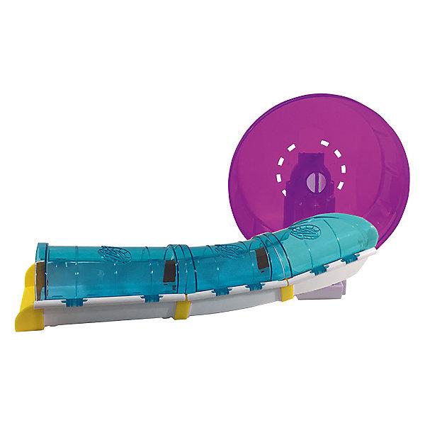 Игровой набор Spin Master Zhu Zhu Pets Колесо с туннелем для хомякаИнтерактивные животные<br>Характеристики:<br><br>• колесо с туннелем для хомячков Жужиков;<br>• в комплекте колесо и туннель;<br>• диаметр колеса 17 см; <br>• интерактивный хомячок приобретается отдельно;<br>• сенсоры и датчики положения;<br>• хомячки умеют передвигаться, танцевать, преодолевать препятствия;<br>• воспроизводят звуки;<br>• автоматическое отключение, когда хомячок перевернется;<br>• режим ласки; <br>• тип батареек: 2 шт. типа ААА;<br>• материал: пластик;<br>• размер упаковки: 21х22х24 см.<br> <br>Игровой набор для интерактивных хомячков. Подходит для всех пимтоцев. Хомячок танцует и быстро бегает, преодолевает препятствия и самостоятельно передвигается. Набор исследования позволяет хомячку перемещаться в туннеле и вращать колесо. Набор совместим с домиком для хомяка. <br><br>Игрушка Zhu zhu pets Колесо с туннелем для хомяка можно купить в нашем интернет-магазине.<br>Ширина мм: 320; Глубина мм: 90; Высота мм: 310; Вес г: 840; Возраст от месяцев: 36; Возраст до месяцев: 2147483647; Пол: Унисекс; Возраст: Детский; SKU: 7523555;