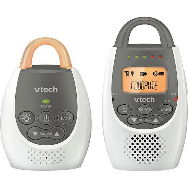Радионяня ВМ2100 VtechРадионяни<br>Характеристики:<br>• цифровая радионяня;<br>• дальность действия 300 м;<br>• двусторонняя связь;<br>• 5 светодиодных индикатора уровня звука;<br>• 5 уровней громкости;<br>• выключение звука;<br>• звуковая индикация низкого заряда аккумулятора;<br>• звуковая индикация выхода из зоны связи;<br>• возможность крепления на поясе с помощью клипсы;<br>• перезаряжаемые аккумуляторы;<br>• ночная подсветка – светящаяся рукоятка на детском блоке;<br>• комплектация: родительский блок, детский блок, аккумуляторы, инструкция;<br>• материал: пластик;<br>• размер упаковки: 23х18х7 см;<br>• вес: 410 см.<br>Цифровая радионяня обеспечивает аудио-связь с ребенком. Родительский блок можно носить на поясе. Детский блок устанавливается в детской комнате. Регулируемый звук и звуковые индикаторы оповещают родителей, что малыш проснулся, гулит или плачет. В темное время суток детский блок выполняет функцию ночника: рукоятка светится и дает мягкий источник света.<br>Радионяня ВМ2100 Vtech можно купить в нашем интернет-магазине.<br><br>Ширина мм: 70<br>Глубина мм: 180<br>Высота мм: 230<br>Вес г: 440<br>Возраст от месяцев: -2147483648<br>Возраст до месяцев: 2147483647<br>Пол: Унисекс<br>Возраст: Детский<br>SKU: 7534673