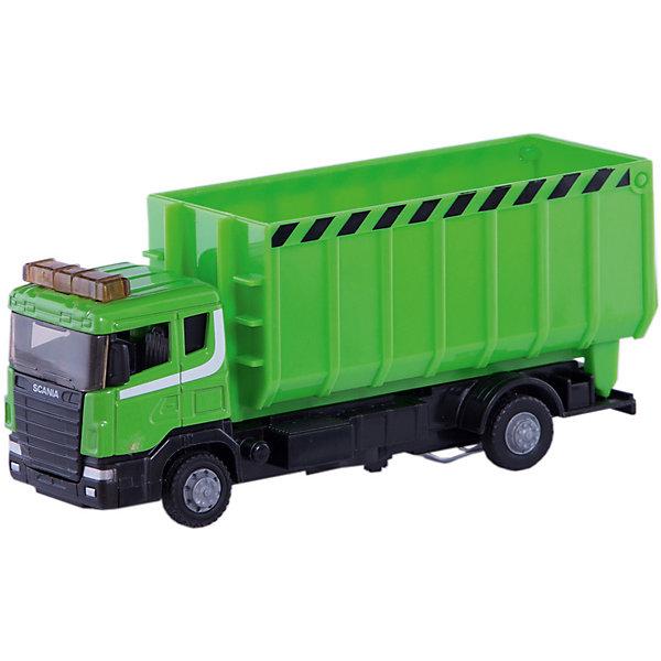 Машина Autotime SCANIA, стройконтейнер, 1:48, зеленыйМашинки<br>Характеристики товара:<br><br>• возраст: от 3 лет;<br>• для мальчиков;<br>• модель: Scania Lorry;<br>• цвет: зеленый;<br>• масштаб: 1:48;<br>• из чего сделана игрушка (состав): металл, резина, пластик;<br>• длина машинки: 17 см.;<br>• размер упаковки: 19,7х11,1х6 см.;<br>• вес: 237 гр.;<br>• упаковка: картонная коробка блистерного типа.<br><br><br>Металлическая машина «Стройконтейнер» из серии Scania Lorry от производителя Autotime имеет яркую зеленую расцветку.<br><br>Грузовой автомобиль оснащен подъемным контейнером, что сделает игру намного увлекательнее и интереснее. <br><br>Игрушка порадует многих мальчиков, которые любят устраивать захватывающие игры с автомобилем.<br><br>Машинку «Стройконтейнер» можно купить в нашем интернет-магазине.<br>Ширина мм: 197; Глубина мм: 60; Высота мм: 111; Вес г: 237; Цвет: зеленый; Возраст от месяцев: 36; Возраст до месяцев: 84; Пол: Мужской; Возраст: Детский; SKU: 7534703;