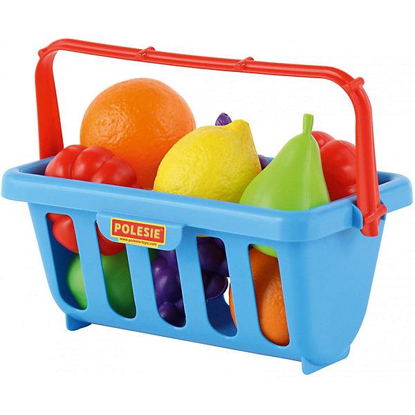 Набор продуктов в корзине 2 Полесье 9 предметов, голубаяИгрушечные продукты питания<br>Характеристики:<br><br>• набор игрушечных продуктов;<br><br>• корзинка для покупок в комплекте;<br><br>• разнообразие фруктов и овощей;<br><br>• сочные цвета, которые соответствуют цвету настоящих продуктов;<br><br>• возможность использовать фрукты и овощи для игр в магазин и кухню;<br><br>• в наборе 9 предметов;<br><br>• материал: пластик;<br><br>• размер упаковки: 23х14х18 см.<br><br>&amp;nbsp;<br><br>Продуктовый магазин или овощная база – с набором продуктов в корзинке можно устроить разные сюжетно-ролевые игры. Продукты изготовлены из пластика, по форме и цвету напоминают настоящие.<br><br>&amp;nbsp;<br><br>Набор продуктов с корзинкой №2, 9 элементов Полесье, синий можно купить в нашем интернет-магазине.<br>Ширина мм: 233; Глубина мм: 140; Высота мм: 180; Вес г: 252; Цвет: синий; Возраст от месяцев: 36; Возраст до месяцев: 2147483647; Пол: Унисекс; Возраст: Детский; SKU: 7534712;
