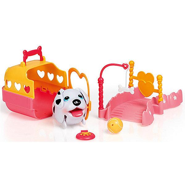 Игровой набор Spin Master Chubby Puppies Детская площадка с далматинцемИгровые наборы с фигурками<br>Характеристики:<br><br>• игровой набор для девочек;<br>• коллекция: Упитанные щенки;<br>• собачка с подвижными конечностями;<br>• персонажи умеют ходить;<br>• наборы совместимы друг с другом;<br>• домики оснащены ручкой для переноски;<br>• в комплекте: щенок, домик, элемент детской площадки, аксессуары;<br>• материал: пластик;<br>• размер упаковки: 31х11х15 см;<br>• вес: 500 г.<br><br>Игровой набор с игривыми щенками становится частью сюжетно-ролевой игры с озорными питомцами. Далматин выходит на детскую площадку, чтобы повидаться со своими друзьями. В комплекте 1 минифигурка щенка, другие персонажи приобретаются отдельно. <br><br>Домик собачки оснащен ручкой для переноски. Дверца домика открывается, чтобы хозяин мог спокойно войти в своё жилище. Элементы детской площадки из наборов со Chubby Puppies дополняют друг друга. <br><br>Игровой набор Детская площадка, Далматин, Chubby Puppies можно купить в нашем интернет-магазине.<br><br>Ширина мм: 110<br>Глубина мм: 150<br>Высота мм: 310<br>Вес г: 507<br>Цвет: черный/белый<br>Возраст от месяцев: 36<br>Возраст до месяцев: 2147483647<br>Пол: Унисекс<br>Возраст: Детский<br>SKU: 7534715