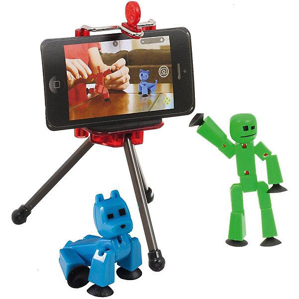 Игровой набор Zing Stikbot Студия с питомцем, Человечек с голубой собакойДетские гаджеты<br>Характеристики:<br><br>• набор для творчества;<br>• возможность создать короткие видеоролики;<br>• в комплекте 2 фигурки для сюжета;<br>• у фигурок подвижные конечности;<br>• имеются присоски, с их помощью можно крепить фигурки к любой плоской поверхности;<br>• штатив для устройства позволяет зафиксировать камеру;<br>• материал: пластик;<br>• размер упаковки: 24х4х19,5 см.<br> <br>Окунуться в мир мультипликаторов и создать собственный ролик – набор «Стикбот» прекрасно исполнит эту функцию. Студия с питомцем содержит в себе 2 фигурки стикботов с подвижными конечностями, которые могут занимать различные позы и «оживают» в кадре. Для воспроизведения видео необходимо скачать мобильное приложение. <br><br>Игрушка-студия с голубой собакой, Stikbot можно купить в нашем интернет-магазине.<br>Ширина мм: 40; Глубина мм: 195; Высота мм: 240; Вес г: 209; Возраст от месяцев: 48; Возраст до месяцев: 2147483647; Пол: Унисекс; Возраст: Детский; SKU: 7534717;