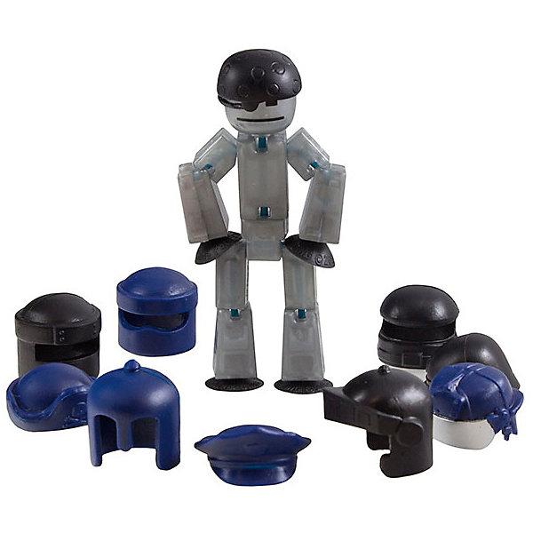Фигурка с аксессуарами Шлемы, Stikbot, черныеДетские гаджеты<br>Характеристики товара:<br><br>• возраст: от 4 лет;<br>• материал: пластик;<br>• в комплекте: фигурка, аксессуары;<br>• размер упаковки: 31х30х4,5 см;<br>• вес упаковки: 115 гр.;<br>• страна производитель: Китай.<br><br>Фигурка с аксессуарами «Шлемы» Stikbot — необычная фигурка с подвижными деталями, с помощью которой можно снимать забавные и смешные видеоролики. Набор включает в себя фигурку и головные уборы: шлем пожарного, шляпу пирата, фуражку полицейского и другие.<br><br>Для создания видеороликов необходимо скачать бесплатное мобильное приложение. А затем при помощи обычного телефона можно записывать небольшие фрагменты, придавая фигурке различные позы. Все фрагменты после записи монтируются в один видеоролик, на который накладывается музыка, фон, голосовые заметки.<br><br>Игрушка позволит детям устроить свою собственную студию и проявить творческие способности и воображение. <br><br>Фигурку с аксессуарами «Шлемы» Stikbot можно приобрести в нашем интернет-магазине.<br><br>Ширина мм: 30<br>Глубина мм: 245<br>Высота мм: 125<br>Вес г: 109<br>Возраст от месяцев: 48<br>Возраст до месяцев: 2147483647<br>Пол: Унисекс<br>Возраст: Детский<br>SKU: 7534739