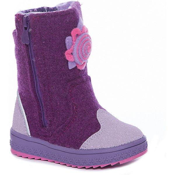 Валенки Kapika для девочкиВаленки<br>Характеристики товара:<br><br>• цвет: фиолетовый<br>• внешний материал: войлок<br>• внутренний материал: шерсть<br>• стелька: натуральная шерсть<br>• подошва: полимер<br>• сезон: зима<br>• температурный режим: от -25 до 0<br>• защита мыса<br>• застегиваются на молнию<br>• подошва не скользит <br>• анатомические <br>• высокие<br>• страна бренда: Россия<br>• страна изготовитель: Молдова<br><br>Теплые валенки для девочки Kapika сделаны из теплого войлока. Детские валенки имеют усиленный мыс и устойчивую подошву. Эта модель валенок для ребенка поможет обеспечить ногам тепло и комфорт даже в сильные морозы. Обувь для детей Капика - это качественные и удобные товары.<br><br>Валенки Kapika (Капика) для девочки можно купить в нашем интернет-магазине.<br>Ширина мм: 257; Глубина мм: 180; Высота мм: 130; Вес г: 420; Цвет: лиловый; Возраст от месяцев: 18; Возраст до месяцев: 21; Пол: Женский; Возраст: Детский; Размер: 23,27,26,25,24; SKU: 7536665;