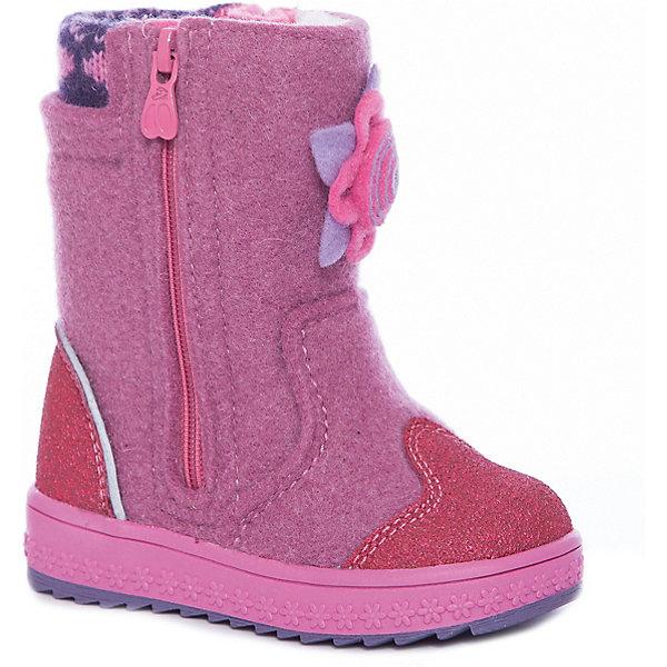 Валенки Kapika для девочкиВаленки<br>Характеристики товара:<br><br>• цвет: фиолетовый<br>• внешний материал: войлок<br>• внутренний материал: шерсть<br>• стелька: натуральная шерсть<br>• подошва: полимер<br>• сезон: зима<br>• температурный режим: от -25 до 0<br>• защита мыса<br>• застегиваются на молнию<br>• подошва не скользит <br>• анатомические <br>• высокие<br>• страна бренда: Россия<br>• страна изготовитель: Молдова<br><br>Модели детской зимней обуви от бренда Kapika созданы с учетом последних тенденций в моде и особенностей строения стопы ребенка. Эти модные и удобные детские валенки имеют устойчивую подошву и усиленный мыс. Зимние валенки для ребенка Kapika сделаны из теплого и прочного войлока. <br><br>Валенки Kapika (Капика) для девочки можно купить в нашем интернет-магазине.<br>Ширина мм: 257; Глубина мм: 180; Высота мм: 130; Вес г: 420; Цвет: лиловый; Возраст от месяцев: 18; Возраст до месяцев: 21; Пол: Женский; Возраст: Детский; Размер: 23,27,26,25,24; SKU: 7536671;