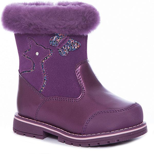 Сапоги Kapika для девочкиСапоги<br>Характеристики товара:<br><br>• цвет: бордовый <br>• внешний материал: натуральная кожа, натуральная замша <br>• внутренний материал: натуральная овечья шерсть<br>• стелька: натуральная шерсть<br>• подошва: ТЭП<br>• сезон: зима<br>• температурный режим: от -20 до 0<br>• подошва не скользит<br>• защита мыса<br>• застегиваются на молнию<br>• анатомические <br>• страна бренда: Россия<br>• страна изготовитель: Китай<br><br>Эти кожаные сапоги для ребенка Kapika декорированы аппликацией и опушкой. Зимние детские сапоги сделаны из натуральной кожи и шерсти, поэтому обеспечат ногам сухость и комфорт в морозы. Сапоги сделаны из качественного материала, дополнены удобной молнией. <br><br>Сапоги Kapika (Капика) для девочки можно купить в нашем интернет-магазине.<br>Ширина мм: 257; Глубина мм: 180; Высота мм: 130; Вес г: 420; Цвет: бордовый; Возраст от месяцев: 18; Возраст до месяцев: 21; Пол: Женский; Возраст: Детский; Размер: 23,27,26,25,24; SKU: 7536900;