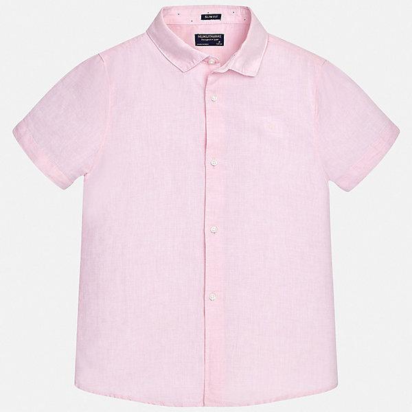 Купить Рубашка Mayoral для мальчика, Индия, розовый, 170, 164, 158, 152, 140, 128/134, Мужской
