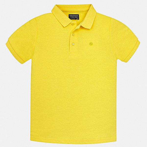 Рубашка-поло Mayoral для мальчикаФутболки, поло и топы<br>Характеристики товара:<br><br>• цвет: желтый<br>• состав ткани: 100% хлопок<br>• сезон: лето<br>• особенности модели: отложной воротник<br>• застежка: пуговицы<br>• короткие рукава<br>• страна бренда: Испания<br>• стиль и качество <br><br>Оригинальная футболка-поло для мальчика от Майорал поможет обеспечить ребенку комфорт. Детская футболка-поло отличается стильным и продуманным дизайном. В футболке-поло для мальчика от испанской компании Майорал ребенок будет выглядеть модно, а чувствовать себя - комфортно. <br><br>Футболку-поло Mayoral (Майорал) для мальчика можно купить в нашем интернет-магазине.<br>Ширина мм: 174; Глубина мм: 10; Высота мм: 169; Вес г: 157; Цвет: желтый; Возраст от месяцев: 168; Возраст до месяцев: 180; Пол: Мужской; Возраст: Детский; Размер: 170,164,158,152,140,128/134; SKU: 7537733;
