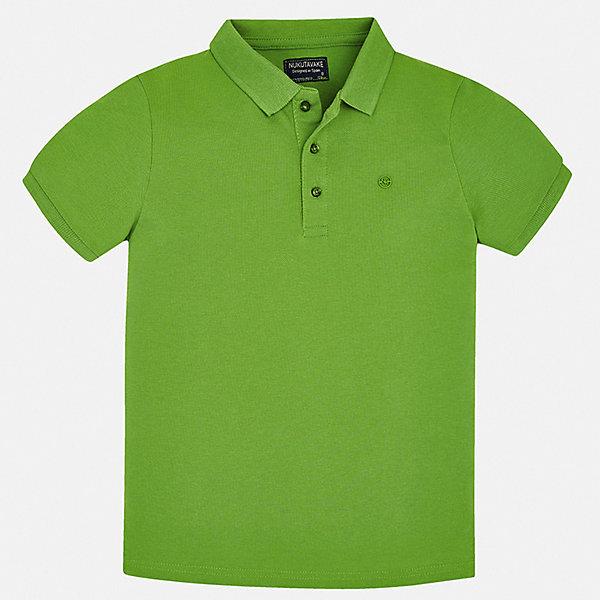 Рубашка-поло Mayoral для мальчикаФутболки, поло и топы<br>Характеристики товара:<br><br>• цвет: белый<br>• состав ткани: 100% хлопок<br>• сезон: лето<br>• особенности модели: отложной воротник<br>• застежка: пуговицы<br>• короткие рукава<br>• страна бренда: Испания<br>• стиль и качество<br><br>Легкая футболка-поло для мальчика отличается стильным продуманным дизайном. Детская футболка-поло с коротким рукавом сделана из дышащего приятного на ощупь материала. Благодаря продуманному крою детской футболки-поло создаются комфортные условия для тела. <br><br>Футболку-поло Mayoral (Майорал) для мальчика можно купить в нашем интернет-магазине.<br>Ширина мм: 174; Глубина мм: 10; Высота мм: 169; Вес г: 157; Цвет: зеленый; Возраст от месяцев: 96; Возраст до месяцев: 108; Пол: Мужской; Возраст: Детский; Размер: 128/134,170,164,158,152,140; SKU: 7537740;