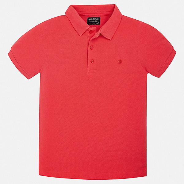 Футболка-поло Mayoral для мальчикаФутболки, поло и топы<br>Характеристики товара:<br><br>• цвет: красный<br>• состав ткани: 100% хлопок<br>• сезон: лето<br>• особенности модели: отложной воротник<br>• застежка: пуговицы<br>• короткие рукава<br>• страна бренда: Испания<br>• стиль и качество <br><br>Яркая футболка-поло для мальчика от Майорал поможет обеспечить ребенку комфорт. Детская футболка-поло отличается стильным и продуманным дизайном. В футболке-поло для мальчика от испанской компании Майорал ребенок будет выглядеть модно, а чувствовать себя - комфортно. <br><br>Футболку-поло Mayoral (Майорал) для мальчика можно купить в нашем интернет-магазине.<br>Ширина мм: 174; Глубина мм: 10; Высота мм: 169; Вес г: 157; Цвет: бордовый; Возраст от месяцев: 96; Возраст до месяцев: 108; Пол: Мужской; Возраст: Детский; Размер: 128/134,140,152,158,164,170; SKU: 7537754;