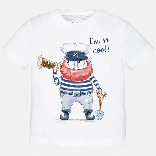 Футболка Mayoral для мальчикаФутболки, поло и топы<br>Характеристики товара:<br><br>• цвет: белый<br>• состав ткани: 100% хлопок<br>• сезон: лето<br>• короткие рукава<br>• страна бренда: Испания<br>• стиль и качество<br><br>Стильная детская футболка сделана из натуральной дышащей и антиаллергенной хлопковой ткани. Детская футболка поможет создать модный и комфортный наряд для ребенка. Хлопковая футболка с принтом для мальчика от Mayoral - отличная базовая вещь для детского гардероба. <br><br>Футболку Mayoral (Майорал) для мальчика можно купить в нашем интернет-магазине.<br>Ширина мм: 199; Глубина мм: 10; Высота мм: 161; Вес г: 151; Цвет: белый; Возраст от месяцев: 24; Возраст до месяцев: 36; Пол: Мужской; Возраст: Детский; Размер: 98,74,80,86,92; SKU: 7537869;