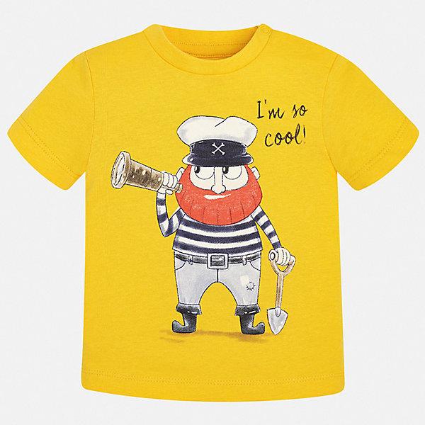 Футболка Mayoral для мальчикаФутболки, поло и топы<br>Характеристики товара:<br><br>• цвет: желтый<br>• состав ткани: 100% хлопок<br>• сезон: лето<br>• короткие рукава<br>• страна бренда: Испания<br>• стиль и качество<br><br>Оригинальная трикотажная футболка с принтом для мальчика от Майорал поможет обеспечить ребенку комфорт. Детская футболка отличается стильным и продуманным дизайном. В футболке для мальчика от испанской компании Майорал ребенок будет выглядеть модно, а чувствовать себя - удобно. <br><br>Футболку Mayoral (Майорал) для мальчика можно купить в нашем интернет-магазине.<br>Ширина мм: 199; Глубина мм: 10; Высота мм: 161; Вес г: 151; Цвет: желтый; Возраст от месяцев: 6; Возраст до месяцев: 9; Пол: Мужской; Возраст: Детский; Размер: 74,98,92,86,80; SKU: 7537875;