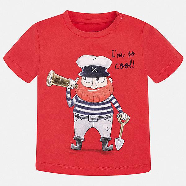 Футболка Mayoral для мальчикаФутболки, поло и топы<br>Характеристики товара:<br><br>• цвет: красный<br>• состав ткани: 100% хлопок<br>• сезон: лето<br>• короткие рукава<br>• страна бренда: Испания<br>• стиль и качество<br><br>Модная детская футболка сделана из натуральной дышащей и антиаллергенной хлопковой ткани. Эта детская футболка поможет создать стильный и комфортный наряд для ребенка. Хлопковая футболка с принтом для мальчика от Mayoral - отличная базовая вещь для детского гардероба. <br><br>Футболку Mayoral (Майорал) для мальчика можно купить в нашем интернет-магазине.<br>Ширина мм: 199; Глубина мм: 10; Высота мм: 161; Вес г: 151; Цвет: бордовый; Возраст от месяцев: 12; Возраст до месяцев: 15; Пол: Мужской; Возраст: Детский; Размер: 80,98,92,86; SKU: 7537887;