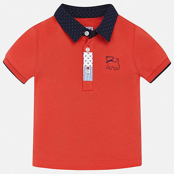 Футболка-поло Mayoral для мальчикаФутболки, поло и топы<br>Характеристики товара:<br><br>• цвет: красный<br>• состав ткани: 100% хлопок<br>• сезон: лето<br>• особенности модели: отложной воротник<br>• застежка: пуговицы<br>• короткие рукава<br>• страна бренда: Испания<br>• стиль и качество <br><br>Яркая футболка-поло для мальчика от Mayoral удобно сидит по фигуре. Стильная детская футболка-поло сделана из натуральной хлопковой ткани. Отличный способ обеспечить ребенку комфорт и стильный вид - надеть детскую футболку-поло от Mayoral. Детская футболка-поло сшита из приятного на ощупь материала. <br><br>Футболку-поло Mayoral (Майорал) для мальчика можно купить в нашем интернет-магазине.<br>Ширина мм: 199; Глубина мм: 10; Высота мм: 161; Вес г: 151; Цвет: бордовый; Возраст от месяцев: 6; Возраст до месяцев: 9; Пол: Мужской; Возраст: Детский; Размер: 74,98,92,86,80; SKU: 7537983;