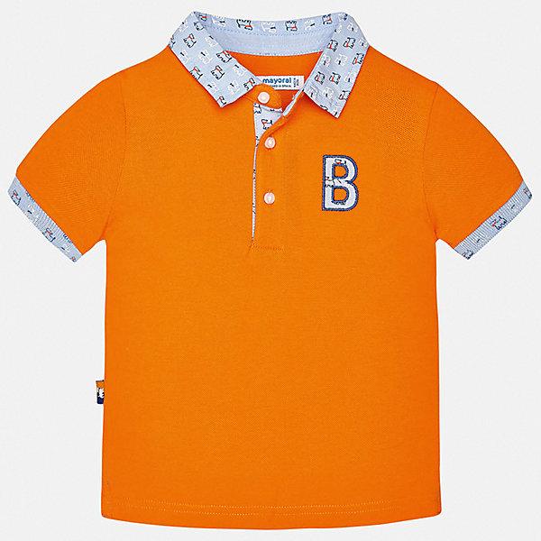 Футболка-поло Mayoral для мальчикаФутболки, поло и топы<br>Характеристики товара:<br><br>• цвет: оранжевый<br>• состав ткани: 100% хлопок<br>• сезон: лето<br>• особенности модели: отложной воротник<br>• застежка: пуговицы<br>• короткие рукава<br>• страна бренда: Испания<br>• стиль и качество <br><br>Детская футболка-поло Mayoral - оригинальная и качественная вещь, созданная специально для детей. Хлопковая футболка-поло для мальчика от Майорал поможет обеспечить ребенку комфорт. В футболке-поло для мальчика от испанской компании Майорал ребенок будет выглядеть модно, а чувствовать себя - комфортно. <br><br>Футболку-поло Mayoral (Майорал) для мальчика можно купить в нашем интернет-магазине.<br>Ширина мм: 199; Глубина мм: 10; Высота мм: 161; Вес г: 151; Цвет: оранжевый; Возраст от месяцев: 6; Возраст до месяцев: 9; Пол: Мужской; Возраст: Детский; Размер: 74,98,92,86,80; SKU: 7537989;