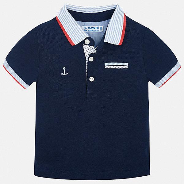 Рубашка-поло Mayoral для мальчикаОдежда<br>Характеристики товара:<br><br>• цвет: синий<br>• состав ткани: 100% хлопок<br>• сезон: лето<br>• особенности модели: отложной воротник<br>• застежка: пуговицы<br>• короткие рукава<br>• страна бренда: Испания<br>• стиль и качество <br><br>Практичная детская футболка-поло Mayoral - оригинальная и качественная вещь, созданная специально для детей. Хлопковая футболка-поло для мальчика от Майорал поможет обеспечить ребенку комфорт. В футболке-поло для мальчика от испанской компании Майорал ребенок будет выглядеть модно, а чувствовать себя - комфортно. <br><br>Футболку-поло Mayoral (Майорал) для мальчика можно купить в нашем интернет-магазине.<br>Ширина мм: 174; Глубина мм: 10; Высота мм: 169; Вес г: 157; Цвет: синий; Возраст от месяцев: 12; Возраст до месяцев: 18; Пол: Мужской; Возраст: Детский; Размер: 86,80,98,92; SKU: 7538054;