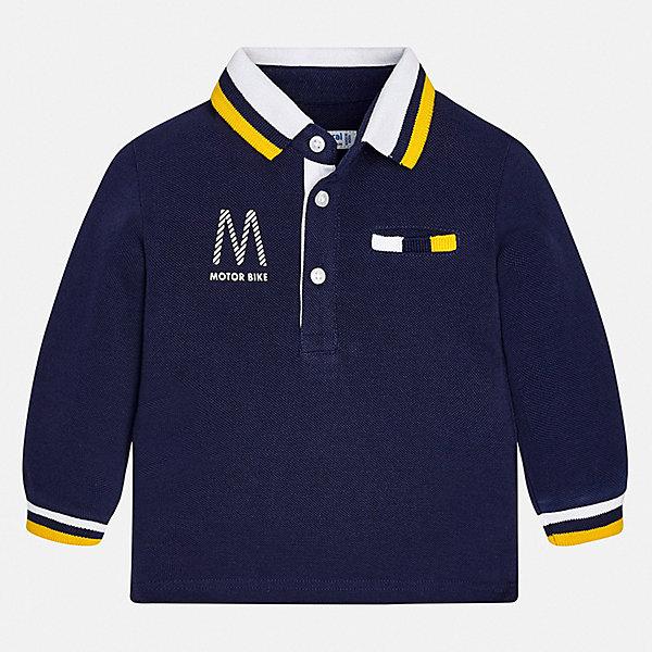 Футболка с длинным рукавом Mayoral для мальчикаФутболки с длинным рукавом<br>Характеристики товара:<br><br>• цвет: синий<br>• состав ткани: 100% хлопок<br>• сезон: демисезон<br>• особенности модели: отложной воротник<br>• застежка: пуговицы<br>• длинные рукава<br>• страна бренда: Испания<br>• стиль и качество<br><br>Лонгслив для ребенка - удобная универсальная базовая вещь. Футболка с длинным рукавом для мальчика отличается стильным продуманным дизайном. Такой детский лонгслив с принтом сделан из дышащего приятного на ощупь материала. <br><br>Лонгслив Mayoral (Майорал) для мальчика можно купить в нашем интернет-магазине.<br>Ширина мм: 230; Глубина мм: 40; Высота мм: 220; Вес г: 250; Цвет: синий; Возраст от месяцев: 18; Возраст до месяцев: 24; Пол: Мужской; Возраст: Детский; Размер: 92,86,80,98; SKU: 7538069;