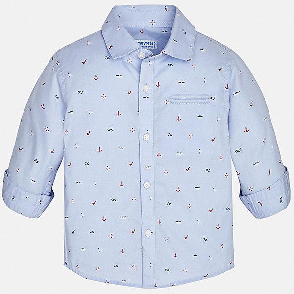 Рубашка Mayoral для мальчикаБлузки и рубашки<br>Характеристики товара:<br><br>• цвет: голубой <br>• состав ткани: 100% хлопок<br>• сезон: круглый год<br>• застежка: пуговицы<br>• длинные рукава<br>• страна бренда: Испания<br>• стиль и качество<br><br>Детская рубашка отличается модным и продуманным дизайном. В рубашке для мальчика от испанской компании Майорал ребенок будет выглядеть оригинально и аккуратно. Оригинальная рубашка для мальчика от Майорал поможет создать стильный и удобный наряд в любое время года. <br><br>Рубашку Mayoral (Майорал) для мальчика можно купить в нашем интернет-магазине.<br>Ширина мм: 174; Глубина мм: 10; Высота мм: 169; Вес г: 157; Цвет: бордовый; Возраст от месяцев: 12; Возраст до месяцев: 15; Пол: Мужской; Возраст: Детский; Размер: 80,98,92,86; SKU: 7538137;