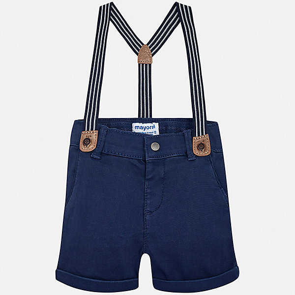 Шорты Mayoral для мальчикаШорты, бриджи, капри<br>Характеристики товара:<br><br>• цвет: синий<br>• комплектация: шорты, подтяжки<br>• состав ткани: 98% хлопок, 2% эластан<br>• сезон: лето<br>• шлевки<br>• регулируемая талия<br>• застежка: пуговица<br>• страна бренда: Испания<br>• стиль и качество<br><br>Стильные детские шорты подойдут для ношения в разных случаях. Отличный способ обеспечить ребенку комфорт в жаркую погоду - надеть эти шорты от Mayoral. Детские шорты сшиты из качественного материала с преобладанием хлопка в составе. Шорты для мальчика Mayoral дополнены шлевками. <br><br>Шорты Mayoral (Майорал) для мальчика можно купить в нашем интернет-магазине.<br>Ширина мм: 191; Глубина мм: 10; Высота мм: 175; Вес г: 273; Цвет: синий; Возраст от месяцев: 6; Возраст до месяцев: 9; Пол: Мужской; Возраст: Детский; Размер: 74,98,92,86,80; SKU: 7538159;