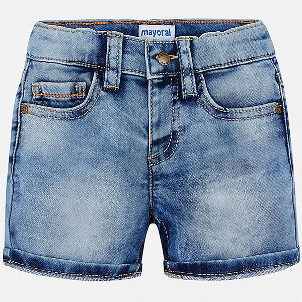 Шорты джинсовые Mayoral для мальчикаШорты, бриджи, капри<br>Характеристики товара:<br><br>• цвет: синий<br>• состав ткани: 83% хлопок, 15% полиэстер, 2% эластан<br>• сезон: лето<br>• шлевки<br>• регулируемая талия<br>• застежка: пуговица<br>• страна бренда: Испания<br>• стиль и качество<br><br>Джинсовые детские шорты сшиты из дышащего плотного материала. Благодаря преобладанию в его составе натурального хлопка материал детских шорт создает комфортные условия для тела. Шорты для мальчика от Mayoral отличаются стильным дизайном.<br><br>Шорты Mayoral (Майорал) для мальчика можно купить в нашем интернет-магазине.<br>Ширина мм: 191; Глубина мм: 10; Высота мм: 175; Вес г: 273; Цвет: белый; Возраст от месяцев: 12; Возраст до месяцев: 15; Пол: Мужской; Возраст: Детский; Размер: 80,98,92,86; SKU: 7538165;