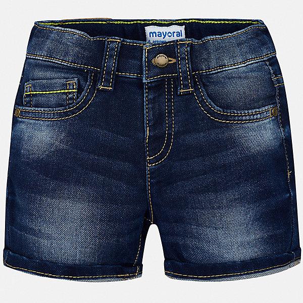 Шорты джинсовые Mayoral для мальчикаШорты, бриджи, капри<br>Характеристики товара:<br><br>• цвет: синий<br>• состав ткани: 83% хлопок, 15% полиэстер, 2% эластан<br>• сезон: лето<br>• шлевки<br>• регулируемая талия<br>• застежка: пуговица<br>• страна бренда: Испания<br>• стиль и качество<br><br>Джинсовые хлопковые шорты для мальчика от Майорал помогут обеспечить ребенку комфорт. Такие детские шорты отличаются стильным дизайном. В шортах для мальчика от испанской компании Майорал ребенок будет выглядеть модно, а чувствовать себя - комфортно. <br><br>Шорты Mayoral (Майорал) для мальчика можно купить в нашем интернет-магазине.<br>Ширина мм: 191; Глубина мм: 10; Высота мм: 175; Вес г: 273; Цвет: синий; Возраст от месяцев: 12; Возраст до месяцев: 15; Пол: Мужской; Возраст: Детский; Размер: 80,98,92,86; SKU: 7538170;