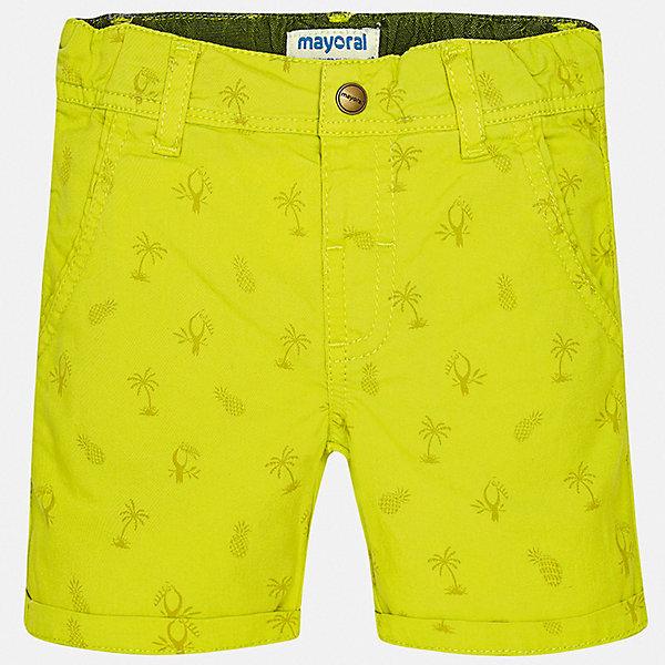 Шорты Mayoral для мальчикаШорты, бриджи, капри<br>Характеристики товара:<br><br>• цвет: желтый<br>• состав ткани: 98% хлопок, 2% эластан<br>• сезон: лето<br>• шлевки<br>• регулируемая талия<br>• застежка: пуговицы<br>• страна бренда: Испания<br>• стиль и качество<br><br>Эти яркие детские бермуды сшиты из дышащего плотного материала. Благодаря преобладанию в его составе натурального хлопка материал детских шорт создает комфортные условия для тела. Шорты для мальчика от Mayoral отличаются стильным дизайном.<br><br>Шорты Mayoral (Майорал) для мальчика можно купить в нашем интернет-магазине.<br>Ширина мм: 191; Глубина мм: 10; Высота мм: 175; Вес г: 273; Цвет: зеленый; Возраст от месяцев: 12; Возраст до месяцев: 15; Пол: Мужской; Возраст: Детский; Размер: 80,98,86,92; SKU: 7538195;