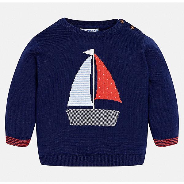 Свитер Mayoral для мальчикаСвитера и кардиганы<br>Характеристики товара:<br><br>• цвет: синий<br>• состав ткани: 100% хлопок<br>• сезон: демисезон<br>• застежка: пуговицы<br>• длинные рукава<br>• страна бренда: Испания<br>• стиль и качество<br><br>Стильный свитер для мальчика от Майорал имеет пуговицы на плече. Детский свитер отличается модным универсальным дизайном. В свитере для мальчика от испанской компании Майорал ребенок чувствовать себя комфортно в прохладную погоду. <br><br>Свитер Mayoral (Майорал) для мальчика можно купить в нашем интернет-магазине.<br>Ширина мм: 190; Глубина мм: 74; Высота мм: 229; Вес г: 236; Цвет: синий; Возраст от месяцев: 24; Возраст до месяцев: 36; Пол: Мужской; Возраст: Детский; Размер: 98,74,80,86,92; SKU: 7538237;