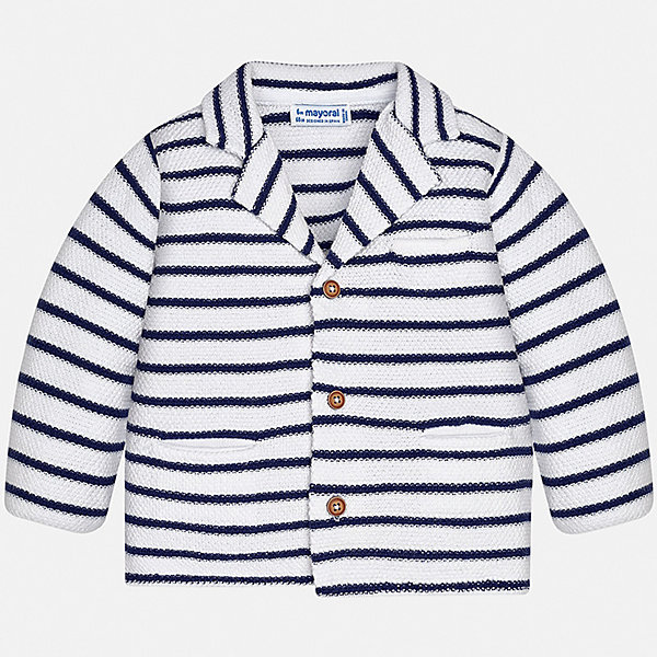 Пиджак Mayoral для мальчикаВерхняя одежда<br>Характеристики товара:<br><br>• цвет: белый<br>• состав ткани: 88% хлопок, 12% полиамид<br>• сезон: демисезон<br>• длинные рукава<br>• застежка: пуговицы<br>• страна бренда: Испания<br>• стиль и качество<br><br>Этот детский пиджак сшит из приятного на ощупь материала, преимущественно имеющего в составе натуральный хлопок. Пиджак для мальчика Mayoral дополнен карманами и пуговицами. Пиджак для ребенка отличается стильным силуэтом. Детский пиджак обеспечит ребенку аккуратный внешний вид. <br><br>Пиджак Mayoral (Майорал) для мальчика можно купить в нашем интернет-магазине.<br>Ширина мм: 190; Глубина мм: 74; Высота мм: 229; Вес г: 236; Цвет: синий; Возраст от месяцев: 12; Возраст до месяцев: 9; Пол: Мужской; Возраст: Детский; Размер: 74,98,92,86,80; SKU: 7538272;