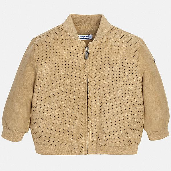 Куртка Mayoral для мальчикаВерхняя одежда<br>Характеристики товара:<br><br>• цвет: бежевый<br>• состав ткани: 100% полиэстер<br>• подкладка: 50% хлопок, 50% полиэстер<br>• утеплитель: нет<br>• сезон: демисезон<br>• особенности куртки: без капюшона<br>• застежка: молния<br>• страна бренда: Испания<br>• стиль и качество<br><br>Легкая детская куртка сделана из качественного материала. Такая куртка для мальчика отличается стильным продуманным дизайном. В детской куртке есть удобные карманы, она дополнена мягкими манжетами.<br><br>Куртку Mayoral (Майорал) для мальчика можно купить в нашем интернет-магазине.<br>Ширина мм: 356; Глубина мм: 10; Высота мм: 245; Вес г: 519; Цвет: бежевый; Возраст от месяцев: 12; Возраст до месяцев: 15; Пол: Мужской; Возраст: Детский; Размер: 80,98,92,86,74; SKU: 7538284;