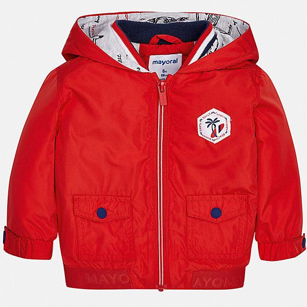 Куртка Mayoral для мальчикаВерхняя одежда<br>Характеристики товара:<br><br>• цвет: красный<br>• состав ткани: 100% полиэстер<br>• подкладка: 60% хлопок, 40% полиэстер<br>• утеплитель: нет<br>• сезон: демисезон<br>• температурный режим: от +5 до +20<br>• особенности куртки: с капюшоном<br>• застежка: молния<br>• страна бренда: Испания<br>• стиль и качество<br><br>Эта легкая детская куртка сделана из качественного материала. Такая куртка для мальчика отличается стильным продуманным дизайном. В детской куртке есть удобные карманы, она дополнена капюшоном.<br><br>Куртку Mayoral (Майорал) для мальчика можно купить в нашем интернет-магазине.<br>Ширина мм: 356; Глубина мм: 10; Высота мм: 245; Вес г: 519; Цвет: бордовый; Возраст от месяцев: 12; Возраст до месяцев: 15; Пол: Мужской; Возраст: Детский; Размер: 80,98,92,86; SKU: 7538301;