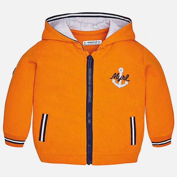 Куртка Mayoral для мальчикаВерхняя одежда<br>Характеристики товара:<br><br>• цвет: оранжевый<br>• состав ткани: 100% хлопок<br>• утеплитель: нет<br>• сезон: демисезон<br>• температурный режим: от +5 до +20<br>• особенности куртки: с капюшоном<br>• застежка: молния<br>• страна бренда: Испания<br>• стиль и качество<br><br>Яркая легкая детская куртка сделана из качественного материала. Такая куртка для мальчика отличается стильным продуманным дизайном. В детской куртке есть удобные карманы, она дополнена капюшоном.<br><br>Куртку Mayoral (Майорал) для мальчика можно купить в нашем интернет-магазине.<br>Ширина мм: 356; Глубина мм: 10; Высота мм: 245; Вес г: 519; Цвет: оранжевый; Возраст от месяцев: 6; Возраст до месяцев: 9; Пол: Мужской; Возраст: Детский; Размер: 74,98,92,86,80; SKU: 7538316;