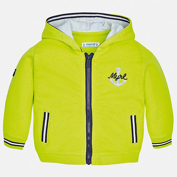 Куртка Mayoral для мальчикаВерхняя одежда<br>Характеристики товара:<br><br>• цвет: зеленый<br>• состав ткани: 100% хлопок<br>• утеплитель: нет<br>• сезон: демисезон<br>• температурный режим: от +5 до +20<br>• особенности куртки: с капюшоном<br>• застежка: молния<br>• страна бренда: Испания<br>• стиль и качество<br><br>Ветровка для мальчика от Майорал поможет обеспечить ребенку комфорт и тепло. Детская куртка с капюшоном отличается модным и продуманным дизайном. В куртке для мальчика от испанской компании Майорал ребенок будет выглядеть модно, а чувствовать себя - комфортно. <br><br>Куртку Mayoral (Майорал) для мальчика можно купить в нашем интернет-магазине.<br>Ширина мм: 356; Глубина мм: 10; Высота мм: 245; Вес г: 519; Цвет: зеленый; Возраст от месяцев: 6; Возраст до месяцев: 9; Пол: Мужской; Возраст: Детский; Размер: 74,98,92,86,80; SKU: 7538322;