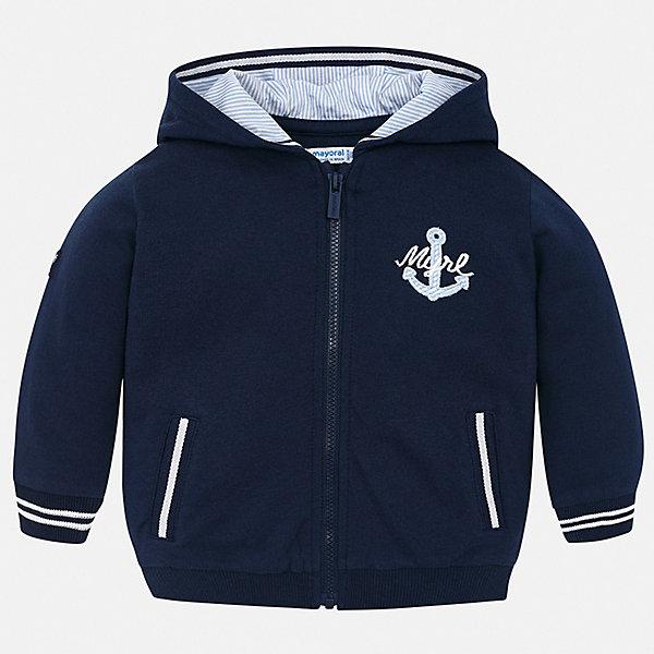 Куртка Mayoral для мальчикаДемисезонные куртки<br>Характеристики товара:<br><br>• цвет: синий<br>• состав ткани: 100% хлопок<br>• утеплитель: нет<br>• сезон: демисезон<br>• температурный режим: от +5 до +20<br>• особенности куртки: с капюшоном<br>• застежка: молния<br>• страна бренда: Испания<br>• стиль и качество<br><br>Практичная легкая детская куртка подойдет для переменной погоды. Отличный способ обеспечить ребенку тепло и комфорт - надеть ветровку от Mayoral. Детская куртка сшита из приятного на ощупь материала. Куртка для мальчика Mayoral дополнена капюшоном и манжетами.<br><br>Куртку Mayoral (Майорал) для мальчика можно купить в нашем интернет-магазине.<br>Ширина мм: 356; Глубина мм: 10; Высота мм: 245; Вес г: 519; Цвет: синий; Возраст от месяцев: 12; Возраст до месяцев: 15; Пол: Мужской; Возраст: Детский; Размер: 80,98,92,86; SKU: 7538328;