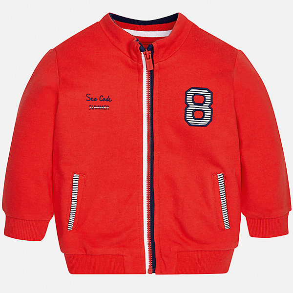 Куртка Mayoral для мальчикаВерхняя одежда<br>Характеристики товара:<br><br>• цвет: красный<br>• состав ткани: 100% хлопок<br>• утеплитель: нет<br>• сезон: демисезон<br>• температурный режим: от +5 до +20<br>• особенности куртки: без капюшона<br>• застежка: молния<br>• страна бренда: Испания<br>• стиль и качество<br><br>Легкая детская ветровка сделана из качественного материала. Такая куртка для мальчика отличается стильным продуманным дизайном. В детской куртке есть удобные карманы, мягкие манжеты и резинка по низу изделия.<br><br>Куртку Mayoral (Майорал) для мальчика можно купить в нашем интернет-магазине.<br>Ширина мм: 356; Глубина мм: 10; Высота мм: 245; Вес г: 519; Цвет: бордовый; Возраст от месяцев: 6; Возраст до месяцев: 9; Пол: Мужской; Возраст: Детский; Размер: 74,98,92,86,80; SKU: 7538333;