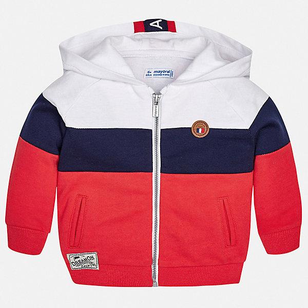 Куртка Mayoral для мальчикаВерхняя одежда<br>Характеристики товара:<br><br>• цвет: красный<br>• состав ткани: 72% хлопок, 28% полиэстер<br>• утеплитель: нет<br>• сезон: демисезон<br>• температурный режим: от +5 до +20<br>• особенности куртки: с капюшоном<br>• застежка: молния<br>• страна бренда: Испания<br>• стиль и качество<br><br>Модная легкая детская куртка подойдет для переменной погоды. Эта ветровка от Mayoral отличается стильным оригинальным дизайном. Детская куртка сшита из легкого качественного материала. Куртка для мальчика Mayoral дополнена капюшоном и манжетами.<br><br>Куртку Mayoral (Майорал) для мальчика можно купить в нашем интернет-магазине.<br>Ширина мм: 356; Глубина мм: 10; Высота мм: 245; Вес г: 519; Цвет: бордовый; Возраст от месяцев: 24; Возраст до месяцев: 36; Пол: Мужской; Возраст: Детский; Размер: 98,80,86,92; SKU: 7538345;
