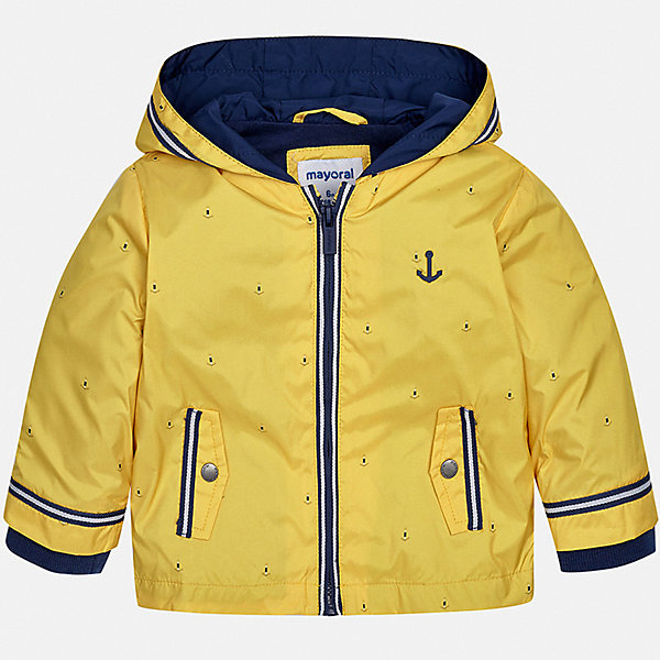 Куртка Mayoral для мальчикаВетровки и жакеты<br>Характеристики товара:<br><br>• цвет: желтый<br>• состав ткани: 100% полиэстер<br>• подкладка: 51% хлопок, 49% полиэстер<br>• утеплитель: нет<br>• сезон: демисезон<br>• температурный режим: от +5 до +20<br>• особенности куртки: с капюшоном<br>• застежка: молния<br>• страна бренда: Испания<br>• стиль и качество<br><br>Куртка для мальчика от Майорал поможет обеспечить ребенку комфорт и тепло. Детская куртка с капюшоном отличается модным и продуманным дизайном. В куртке для мальчика от испанской компании Майорал ребенок будет выглядеть модно, а чувствовать себя - комфортно. <br><br>Куртку Mayoral (Майорал) для мальчика можно купить в нашем интернет-магазине.<br>Ширина мм: 356; Глубина мм: 10; Высота мм: 245; Вес г: 519; Цвет: желтый; Возраст от месяцев: 6; Возраст до месяцев: 9; Пол: Мужской; Возраст: Детский; Размер: 74,98,92,86,80; SKU: 7538355;