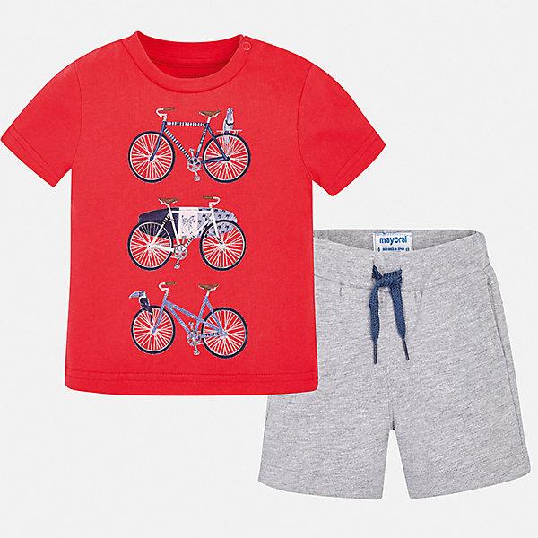 Купить Комплект:футболка, брюки Mayoral для мальчика, Китай, серый, 74, 98, 92, 86, 80, Мужской