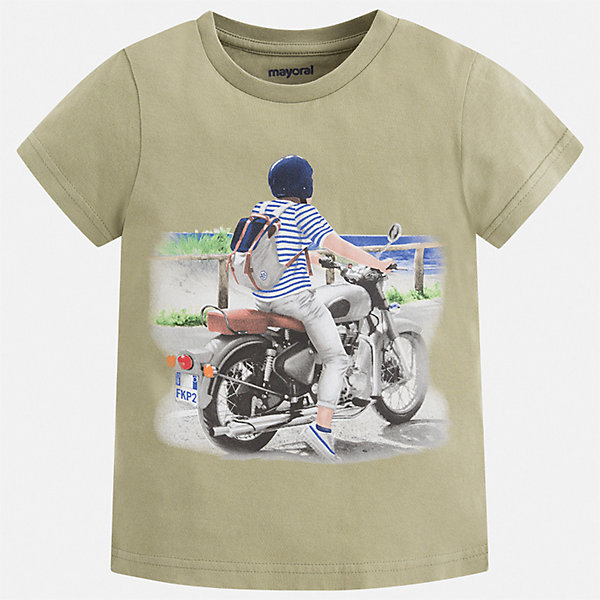 Футболка Mayoral для мальчикаФутболки, поло и топы<br>Характеристики товара:<br><br>• цвет: зеленый<br>• состав ткани: 100% хлопок<br>• сезон: лето<br>• короткие рукава<br>• страна бренда: Испания<br>• стиль и качество<br><br>Практичная детская футболка с коротким рукавом декорирована стильным принтом. Края детской футболки обработаны мягкими швами. Такая футболка для мальчика отличается модным дизайном.<br><br>Футболку Mayoral (Майорал) для мальчика можно купить в нашем интернет-магазине.<br>Ширина мм: 199; Глубина мм: 10; Высота мм: 161; Вес г: 151; Цвет: зеленый; Возраст от месяцев: 18; Возраст до месяцев: 24; Пол: Мужской; Возраст: Детский; Размер: 92,134,128,122,116,110,104,98; SKU: 7539145;