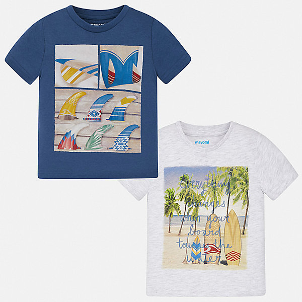 Комплект:2 футболки Mayoral для мальчикаКомплекты<br>Характеристики товара:<br><br>• цвет: серый, синий<br>• комплектация: 2 шт<br>• состав ткани: 100% хлопок<br>• сезон: лето<br>• короткие рукава<br>• страна бренда: Испания<br>• стиль и качество<br><br>Каждая хлопковая детская футболка с коротким рукавом из этого набора декорирована стильным принтом. Благодаря продуманному крою детских футболок создаются комфортные условия для тела. Обе такие футболки для мальчика отличаются модным дизайном. <br><br>Комплект: 2 футболки Mayoral (Майорал) для мальчика можно купить в нашем интернет-магазине.<br>Ширина мм: 199; Глубина мм: 10; Высота мм: 161; Вес г: 151; Цвет: синий; Возраст от месяцев: 36; Возраст до месяцев: 48; Пол: Мужской; Возраст: Детский; Размер: 104,134,128,122,116,110; SKU: 7539363;