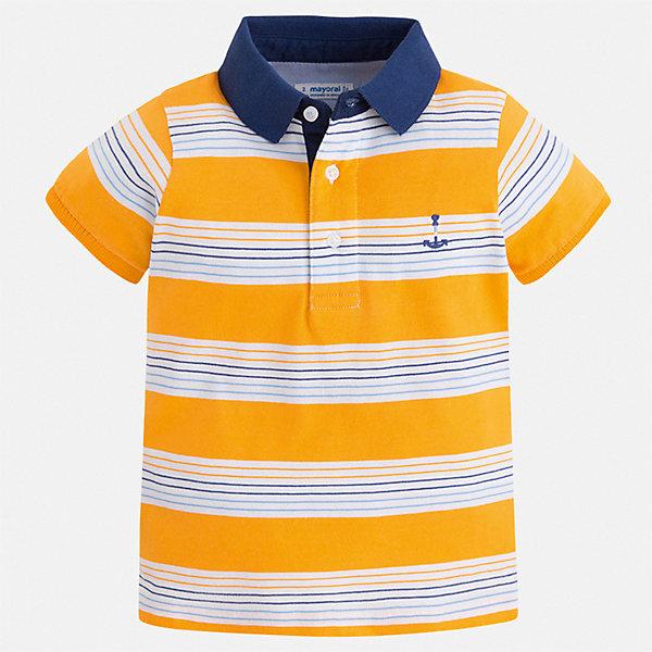 Футболка Mayoral для мальчикаФутболки, поло и топы<br>Характеристики товара:<br><br>• цвет: желтый<br>• состав ткани: 100% хлопок<br>• сезон: лето<br>• особенности модели: отложной воротник<br>• застежка: пуговицы<br>• короткие рукава<br>• страна бренда: Испания<br>• стиль и качество<br><br>Эта детская футболка-поло с коротким рукавом сшита из натурального хлопкового трикотажа. Благодаря продуманному крою детской футболки-поло создаются комфортные условия для тела. Модная футболка-поло для мальчика сделана с учетом последних тенденций в молодежной моде.<br><br>Футболку-поло Mayoral (Майорал) для мальчика можно купить в нашем интернет-магазине.<br>Ширина мм: 174; Глубина мм: 10; Высота мм: 169; Вес г: 157; Цвет: желтый; Возраст от месяцев: 72; Возраст до месяцев: 84; Пол: Мужской; Возраст: Детский; Размер: 122,134,128,92,98,104,110,116; SKU: 7539527;