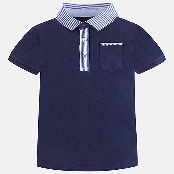 Футболка-поло Mayoral для мальчикаФутболки, поло и топы<br>Характеристики товара:<br><br>• цвет: синий<br>• состав ткани: 100% хлопок<br>• сезон: лето<br>• особенности модели: отложной воротник<br>• застежка: пуговицы<br>• короткие рукава<br>• страна бренда: Испания<br>• стиль и качество<br><br>Модная футболка-поло для мальчика сделана с учетом последних тенденций в молодежной моде. Практичная детская футболка-поло с коротким рукавом сшита из натурального хлопкового трикотажа. Благодаря продуманному крою детской футболки-поло создаются комфортные условия для тела. <br><br>Футболку-поло Mayoral (Майорал) для мальчика можно купить в нашем интернет-магазине.<br>Ширина мм: 199; Глубина мм: 10; Высота мм: 161; Вес г: 151; Цвет: синий; Возраст от месяцев: 48; Возраст до месяцев: 60; Пол: Мужской; Возраст: Детский; Размер: 110,104,98,92,134,128,122,116; SKU: 7539581;