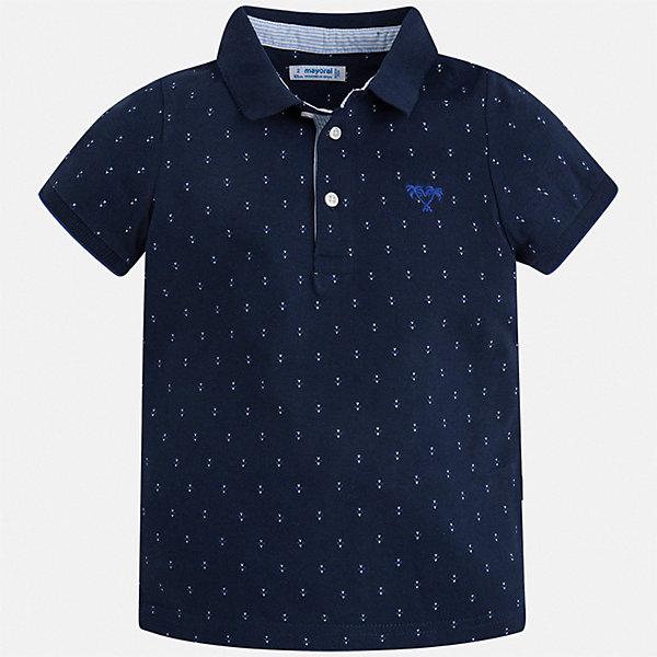 Рубашка-поло Mayoral для мальчикаОдежда<br>Характеристики товара:<br><br>• цвет: синий<br>• состав ткани: 100% хлопок<br>• сезон: лето<br>• особенности модели: отложной воротник<br>• застежка: пуговицы<br>• короткие рукава<br>• страна бренда: Испания<br>• стиль и качество<br><br>Такая детская футболка-поло с коротким рукавом сшита из натурального хлопкового трикотажа. Благодаря продуманному крою детской футболки-поло создаются комфортные условия для тела. Модная футболка-поло для мальчика сделана с учетом последних тенденций в молодежной моде.<br><br>Футболку-поло Mayoral (Майорал) для мальчика можно купить в нашем интернет-магазине.<br>Ширина мм: 174; Глубина мм: 10; Высота мм: 169; Вес г: 157; Цвет: синий; Возраст от месяцев: 96; Возраст до месяцев: 108; Пол: Мужской; Возраст: Детский; Размер: 92,134,98,104,110,116,122,128; SKU: 7539608;