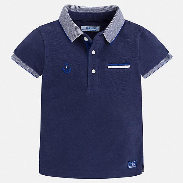 Купить Рубашка-поло Mayoral для мальчика, Китай, синий, 92, 134, 128, 122, 116, 110, 104, 98, Мужской