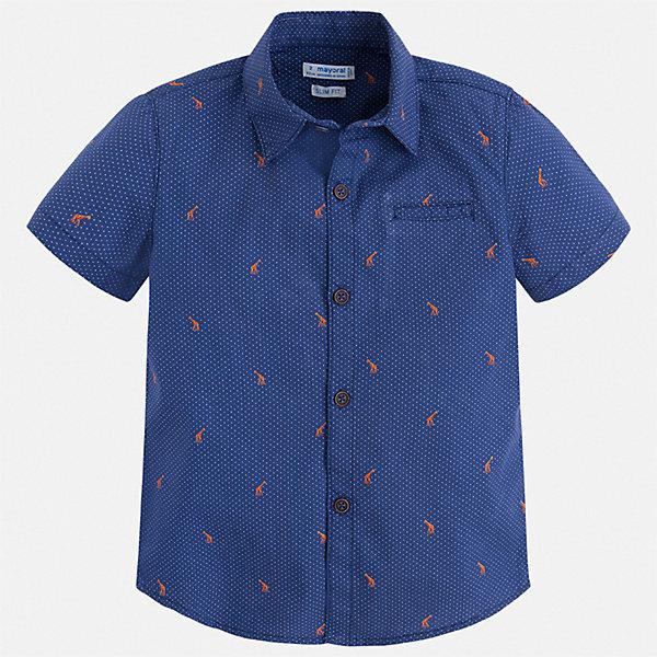 Рубашка Mayoral для мальчикаБлузки и рубашки<br>Характеристики товара:<br><br>• цвет: синий<br>• состав ткани: 100% хлопок<br>• сезон: лето<br>• застежка: пуговицы<br>• короткие рукава<br>• страна бренда: Испания<br>• стиль и качество<br><br>Стильная детская рубашка сделана из дышащего приятного на ощупь материала. Благодаря качественному крою детской рубашки создаются комфортные условия для тела. Рубашка с коротким рукавом для мальчика отличается лаконичным продуманным дизайном.<br><br>Рубашку Mayoral (Майорал) для мальчика можно купить в нашем интернет-магазине.<br>Ширина мм: 174; Глубина мм: 10; Высота мм: 169; Вес г: 157; Цвет: синий; Возраст от месяцев: 96; Возраст до месяцев: 108; Пол: Мужской; Возраст: Детский; Размер: 134,92,98,104,110,116,122,128; SKU: 7539953;