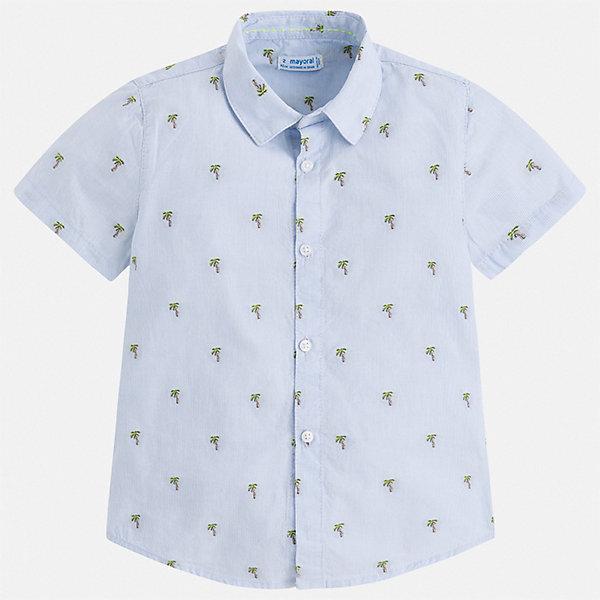 Рубашка Mayoral для мальчикаБлузки и рубашки<br>Характеристики товара:<br><br>• цвет: голубой<br>• состав ткани: 100% хлопок<br>• сезон: лето<br>• застежка: пуговицы<br>• короткие рукава<br>• страна бренда: Испания<br>• стиль и качество<br><br>Рубашка с коротким рукавом для мальчика отличается высоким качеством швов и материала. Такая детская рубашка сделана из дышащего приятного на ощупь материала. Благодаря качественному крою детской рубашки создаются комфортные условия для тела. <br><br>Рубашку Mayoral (Майорал) для мальчика можно купить в нашем интернет-магазине.<br>Ширина мм: 174; Глубина мм: 10; Высота мм: 169; Вес г: 157; Цвет: голубой; Возраст от месяцев: 72; Возраст до месяцев: 84; Пол: Мужской; Возраст: Детский; Размер: 122,116,110,104,98,92,134,128; SKU: 7539980;