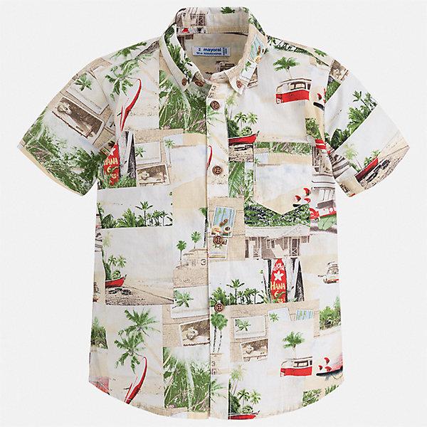 Рубашка Mayoral для мальчикаБлузки и рубашки<br>Характеристики товара:<br><br>• цвет: бежевый<br>• состав ткани: 100% хлопок<br>• сезон: лето<br>• застежка: пуговицы<br>• короткие рукава<br>• страна бренда: Испания<br>• стиль и качество<br><br>Эффектная рубашка с коротким рукавом для мальчика отличается высоким качеством швов и материала. Такая детская рубашка сделана из дышащего приятного на ощупь материала. Благодаря качественному крою детской рубашки создаются комфортные условия для тела. <br><br>Рубашку Mayoral (Майорал) для мальчика можно купить в нашем интернет-магазине.<br>Ширина мм: 174; Глубина мм: 10; Высота мм: 169; Вес г: 157; Цвет: серый; Возраст от месяцев: 18; Возраст до месяцев: 24; Пол: Мужской; Возраст: Детский; Размер: 92,134,128,122,116,110,104,98; SKU: 7540032;