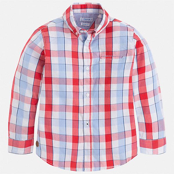 Рубашка Mayoral для мальчикаБлузки и рубашки<br>Характеристики товара:<br><br>• цвет: красный<br>• состав ткани: 100% хлопок<br>• сезон: круглый год<br>• особенности модели: нарядная<br>• застежка: пуговицы<br>• длинные рукава<br>• страна бренда: Испания<br>• стиль и качество<br><br>Рубашка с длинным рукавом для мальчика отличается лаконичным продуманным дизайном. Детская рубашка в клетку сделана из дышащего приятного на ощупь материала. Благодаря продуманному крою детской рубашки создаются комфортные условия для тела. <br><br>Рубашку Mayoral (Майорал) для мальчика можно купить в нашем интернет-магазине.<br>Ширина мм: 174; Глубина мм: 10; Высота мм: 169; Вес г: 157; Цвет: бордовый; Возраст от месяцев: 18; Возраст до месяцев: 24; Пол: Мужской; Возраст: Детский; Размер: 98,92,134,128,122,116,110,104; SKU: 7540104;
