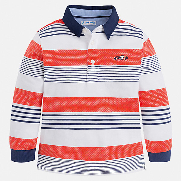 Купить Рубашка-поло с длинным рукавом Mayoral для мальчика, Китай, бежевый, 104, 134, 128, 122, 116, 110, 98, 92, Мужской